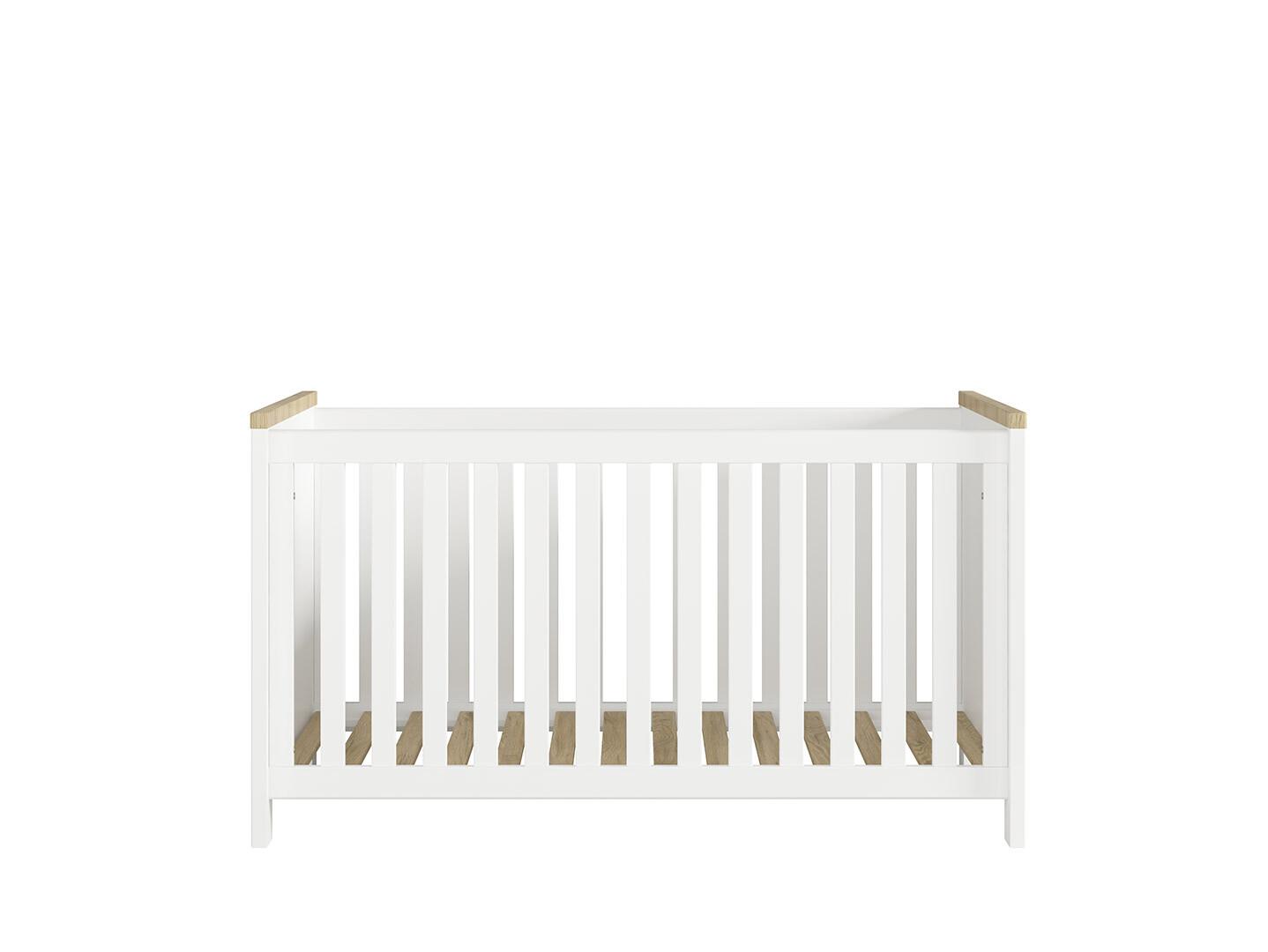 Detská posteľ DREVISO BABY LOZ/140x70 biela/ dub westminster