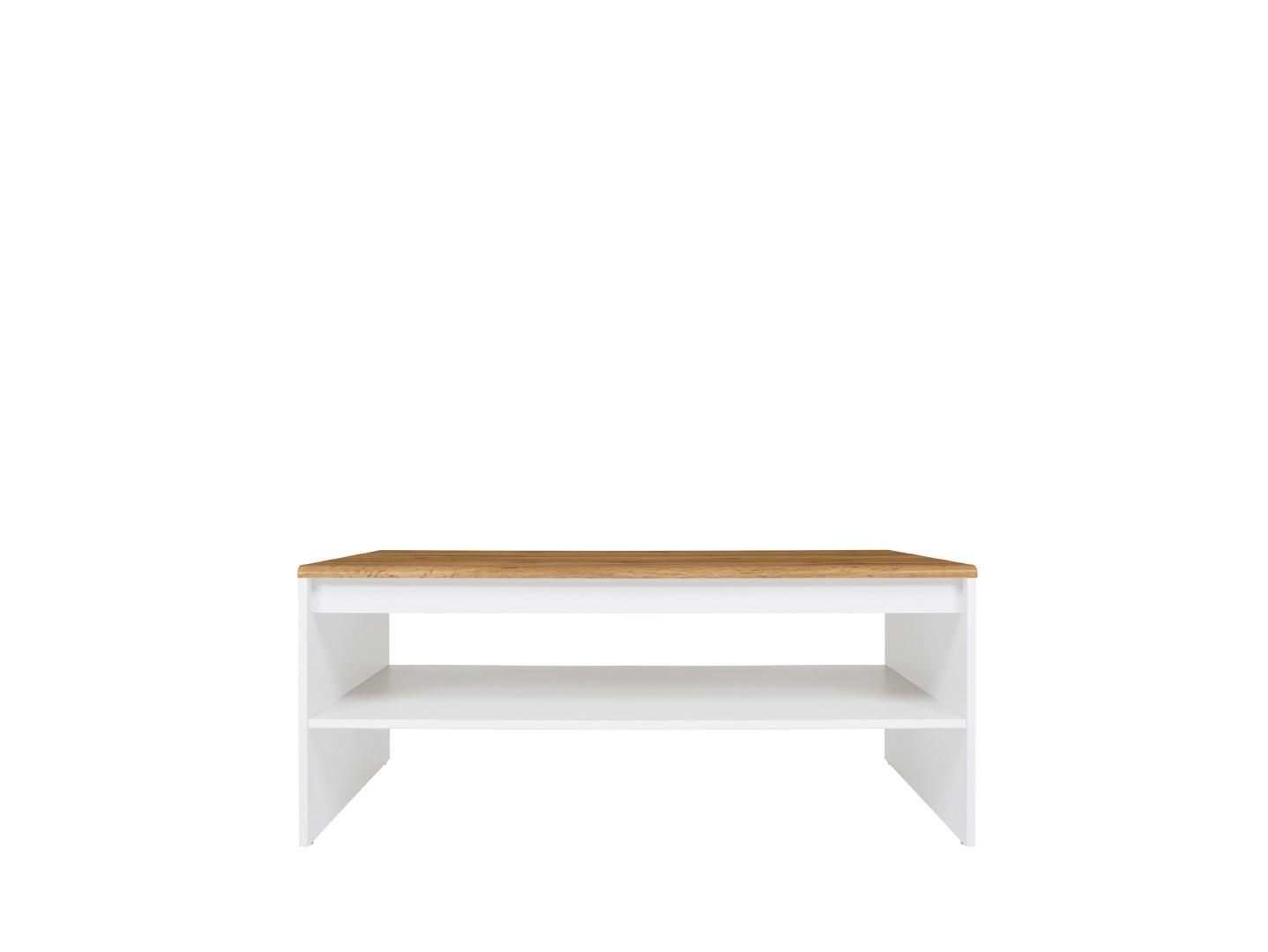 Konferenčný stolík HOLTEN LAW/110 biela/dub wotan