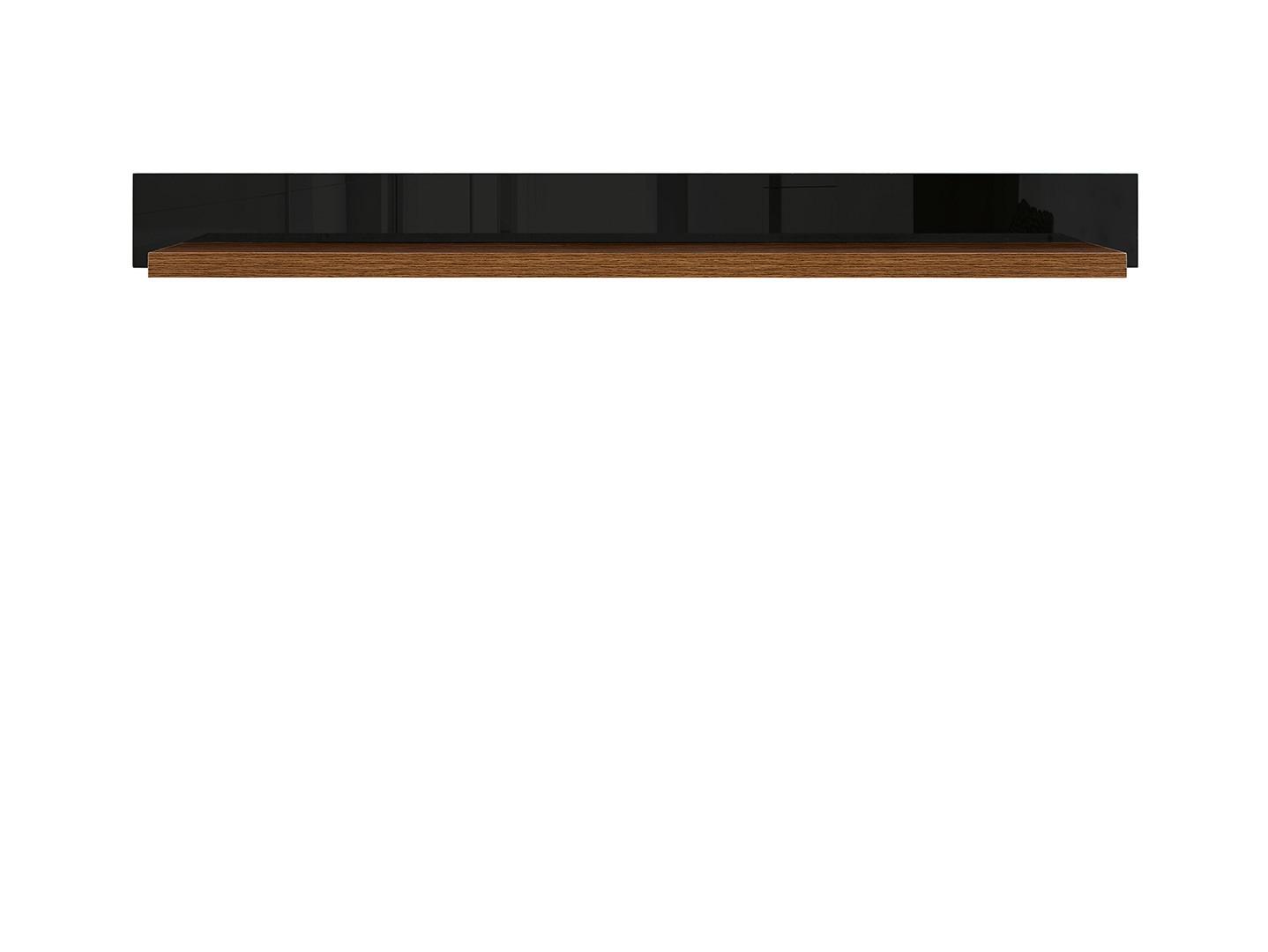 Polica AROSA POL/150 dub hnedý / čierny lesk