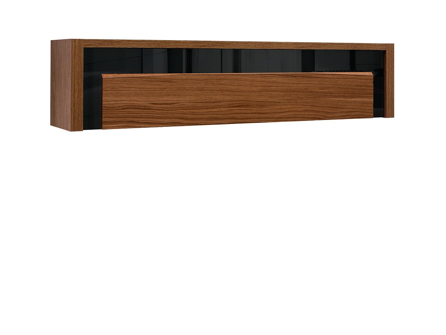 Závesná skrinka AROSA SFW1K dub hnedý / čierny lesk