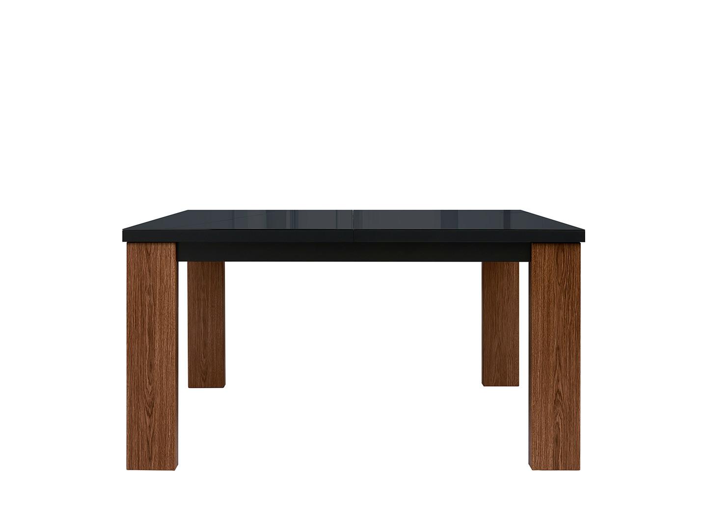 Jedálenský stôl AROSA STO/140 dub hnedý / čierny lesk