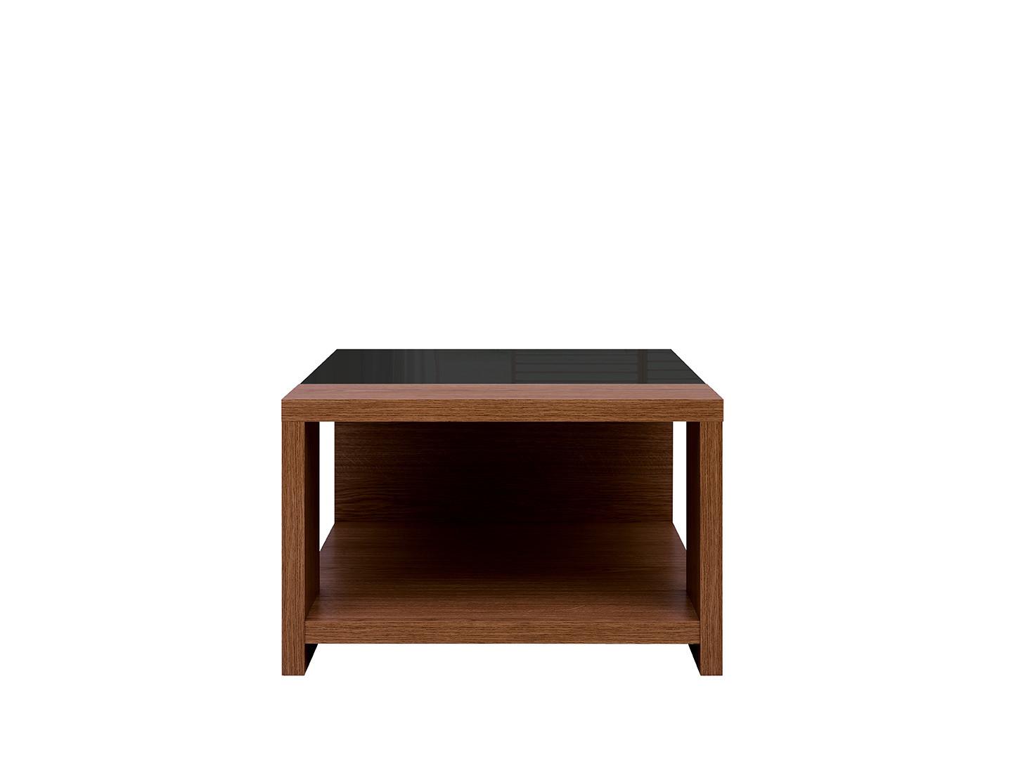Konferenčný stolík AROSA LAW/70 dub hnedý / čierny lesk