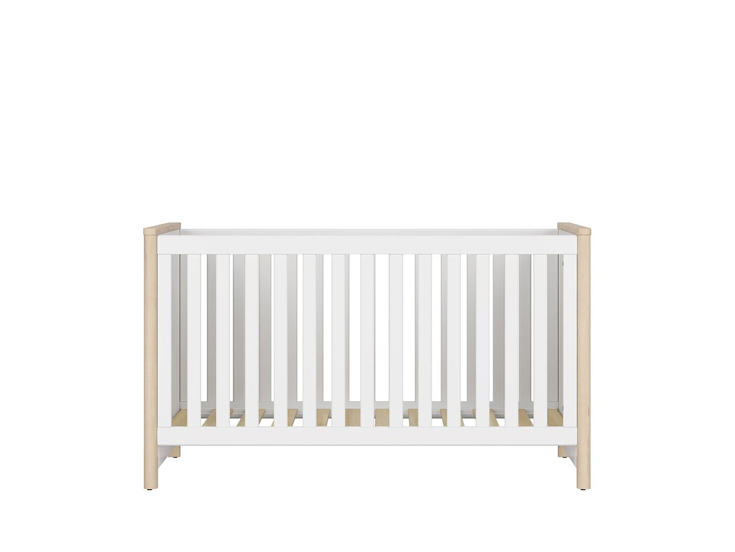 Detská postel TIMON LOZ/140x70 buk iconic/ biela/ koníky