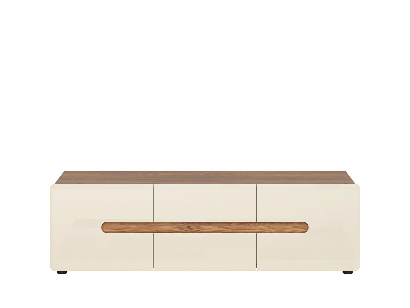 TV stolík INDIO RTV2D2S smrekovec sibiu zlatý/ perleťový lesk