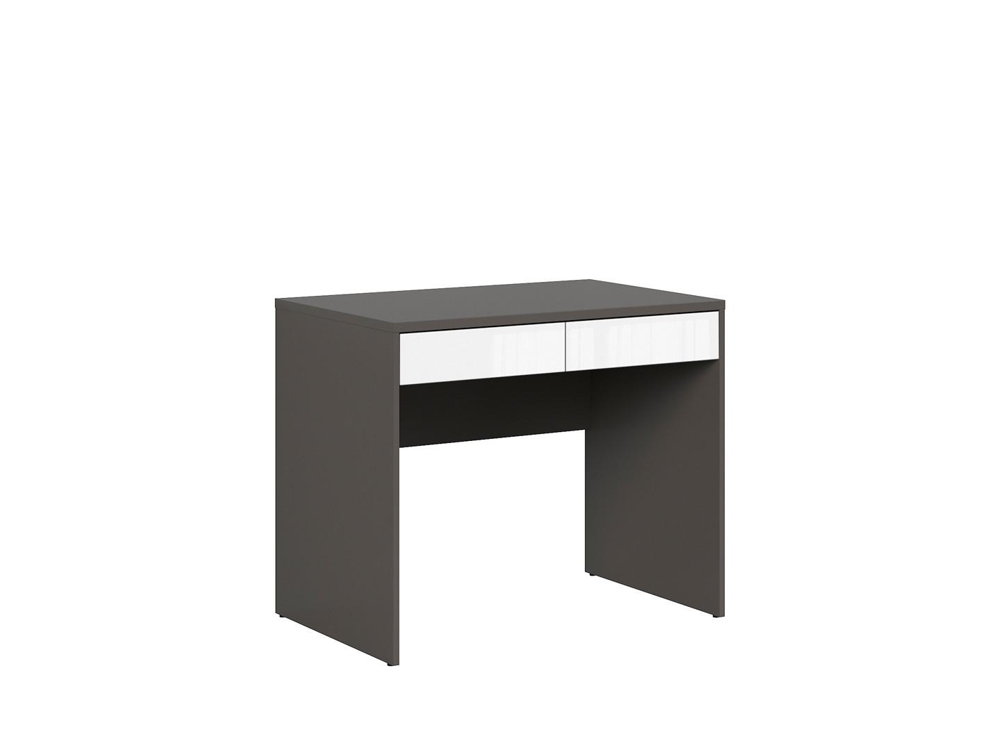 Kancelársky stôl GRAPHIC BIU2S sivý wolfram/biely vysoký lesk