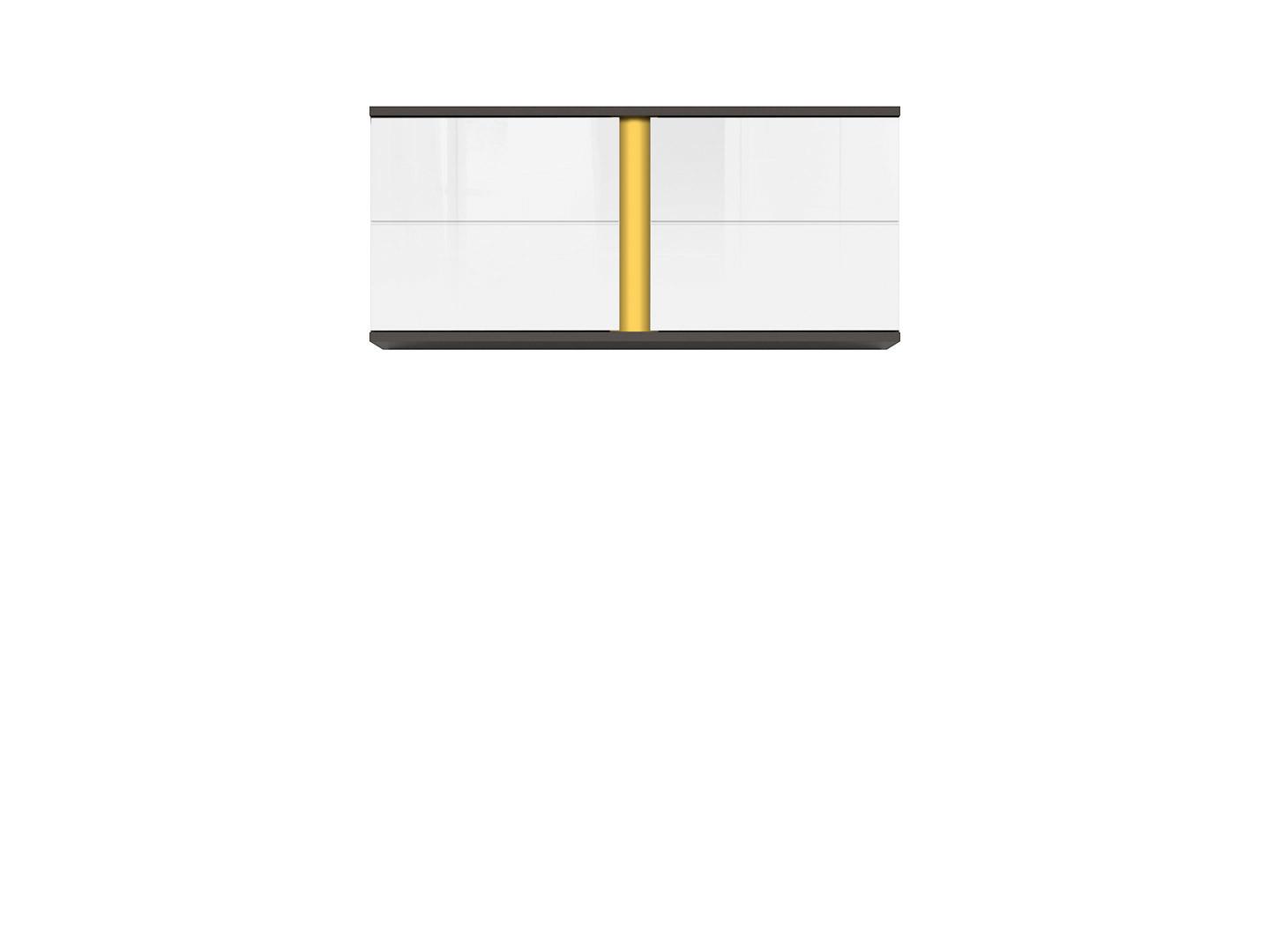 Skrinka GRAPHIC SFW2D/86/38/A sivý wolfram/biely vysoký lesk