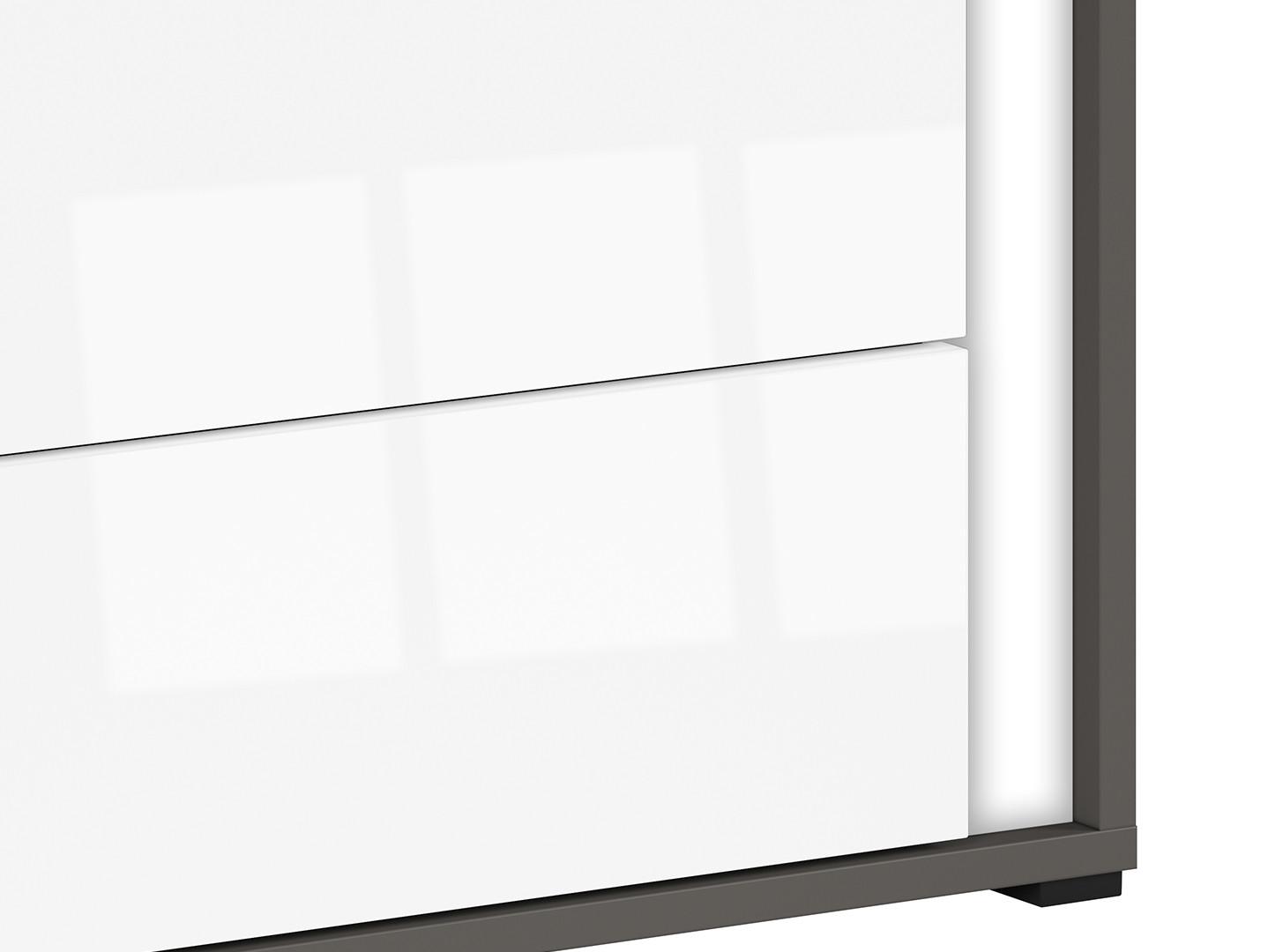 Nočný stolík GRAPHIC KOM2SL/A sivý wolfram/biely vysoký lesk
