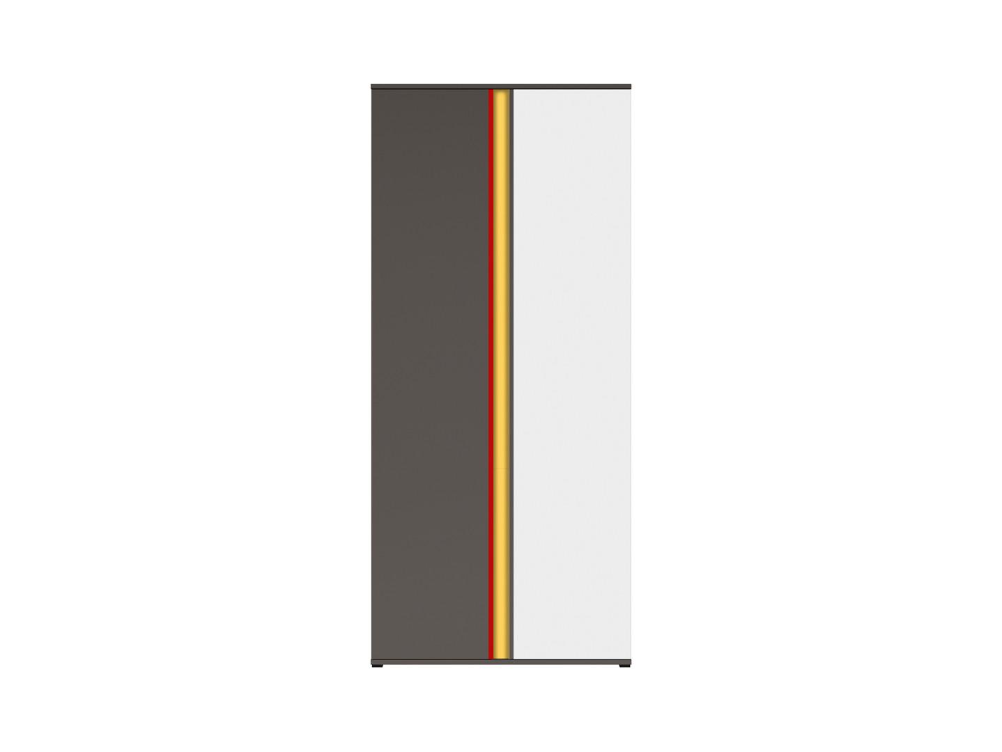 Skriňa GRAPHIC SZF2D/B sivý wolfram/sivý wolfram/biely