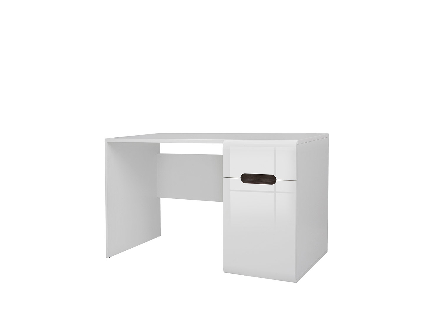 Písací stôl AZTECA TRIO BIU1D1S/8/12 biela/biely lesk