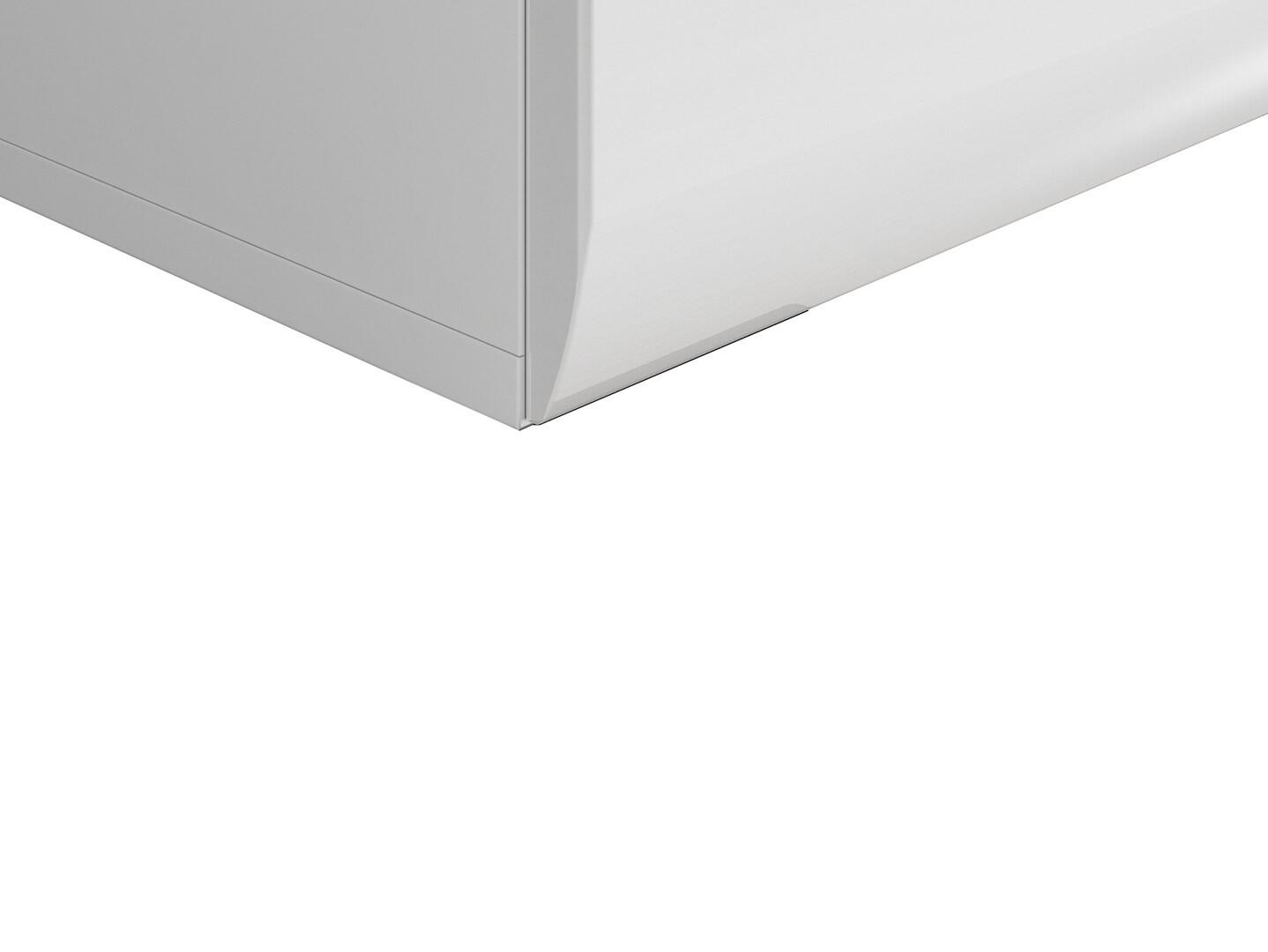 Nočný stolík AZTECA TRIO KOM2S/4/5 biela/biely lesk