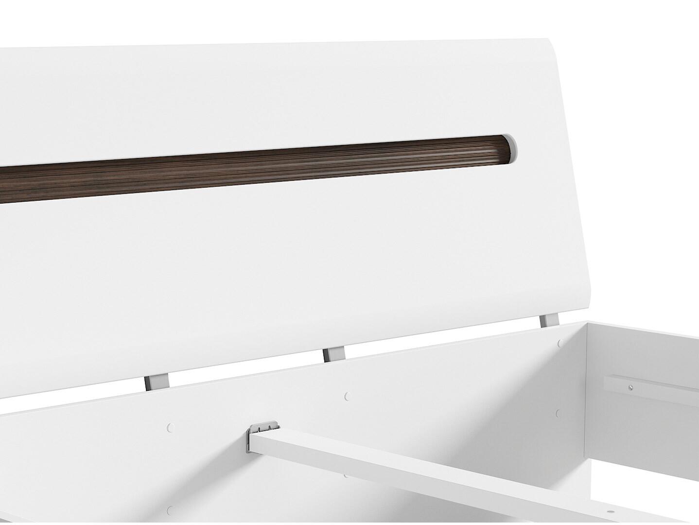 Manželská posteľ AZTECA TRIO LOZ/160 biela/biely lesk