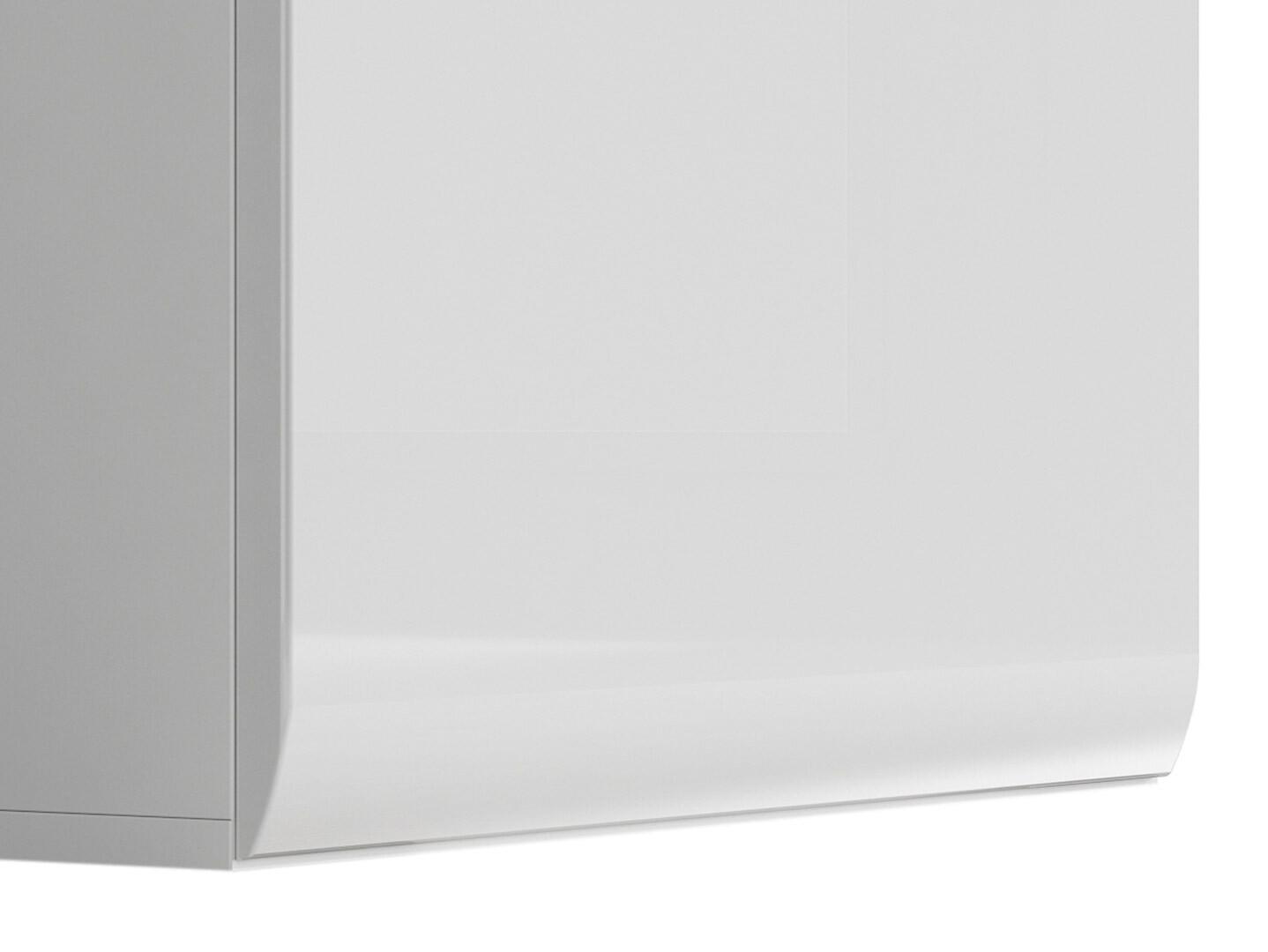 Vitrína AZTECA TRIO REG1W1D/19/6 biela/biely lesk