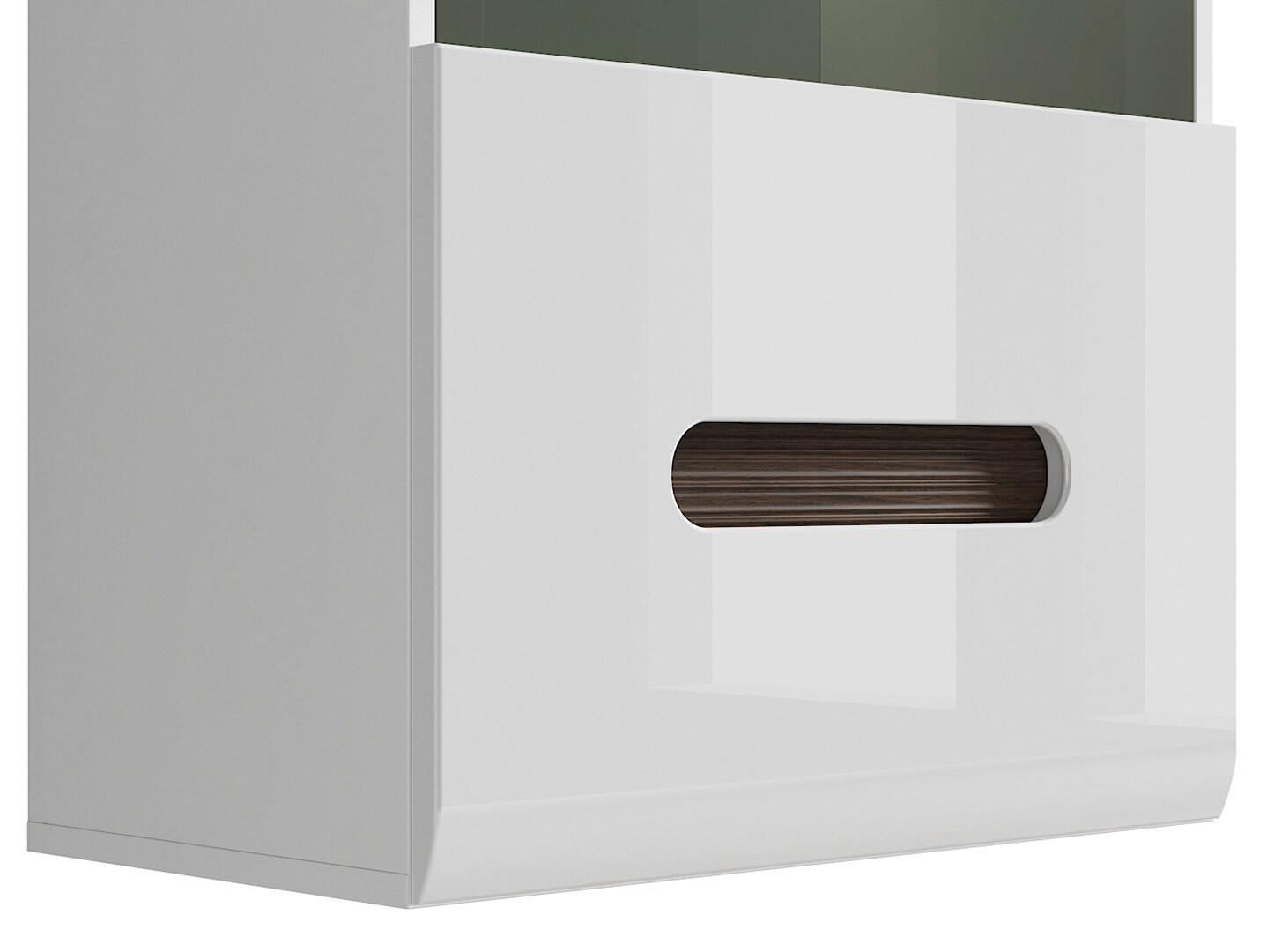 Závesná vitrína AZTECA TRIO SFW1W/10/6 biela/biely lesk