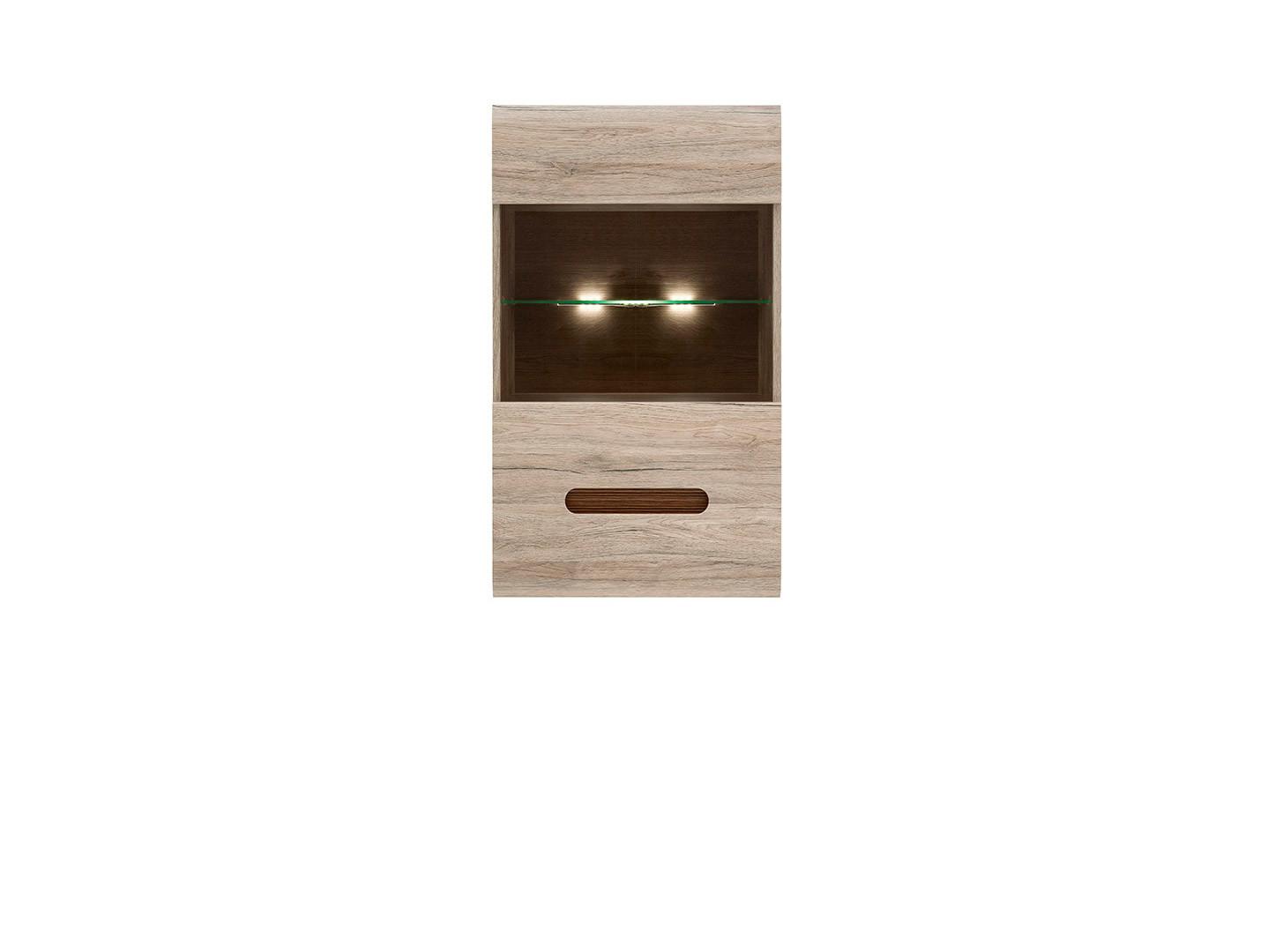 Závesná vitrína AZTECA TRIO SFW1W/10/6 dub san Remo