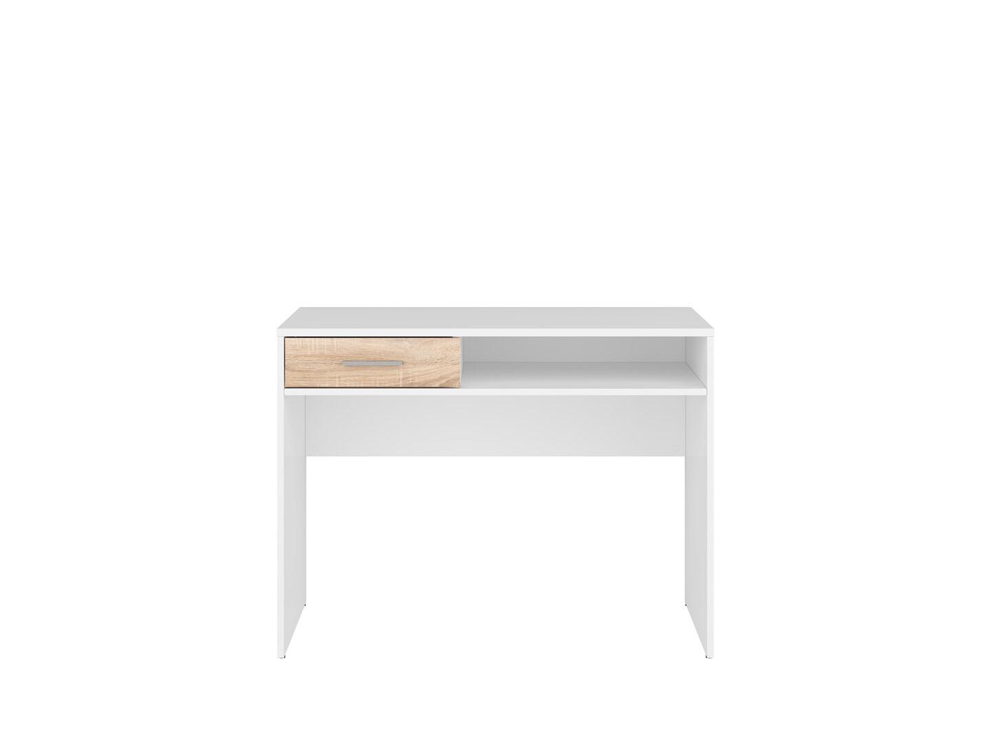 Písací stolík NEPO PLUS BIU1S biela/dub sonoma