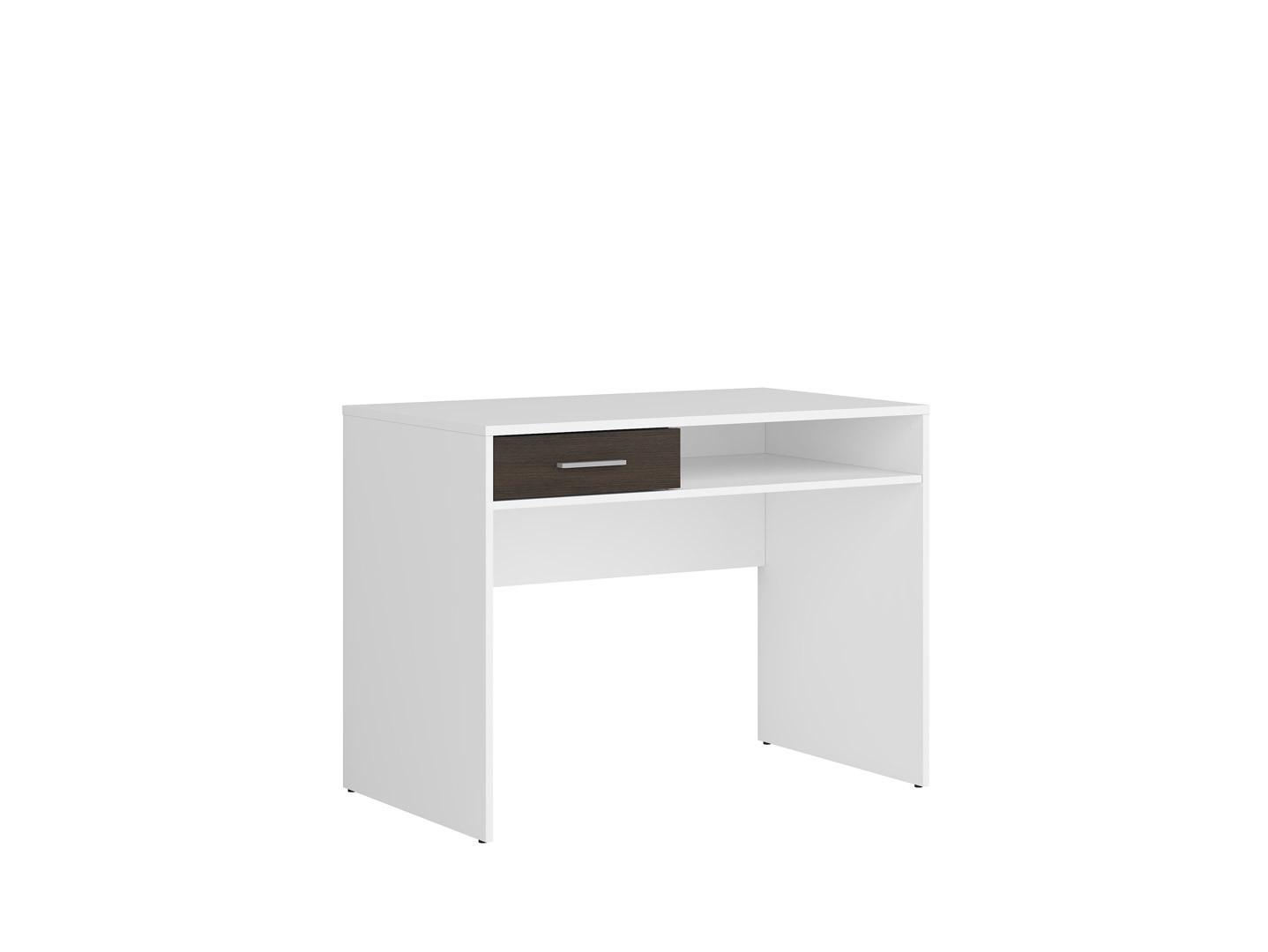 Písací stolík NEPO PLUS BIU1S biela/wenge