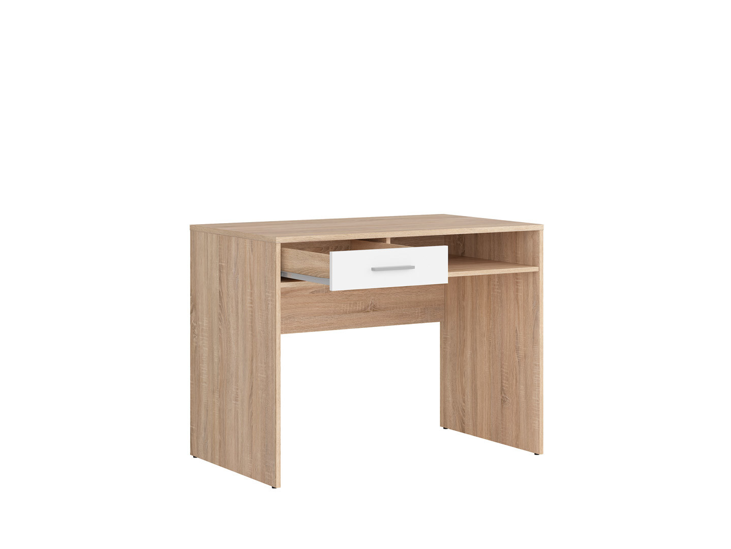 Písací stolík NEPO PLUS BIU1S dub sonoma/biela