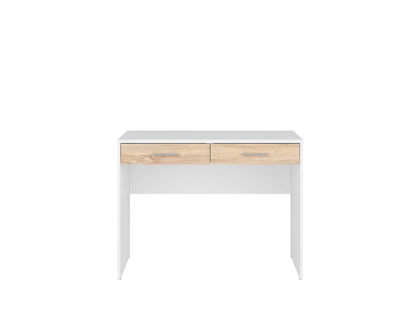 Písací stolík NEPO PLUS BIU2S biela/dub sonoma