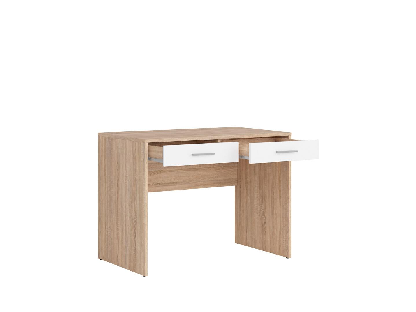 Písací stolík NEPO PLUS BIU2S dub sonoma/biela