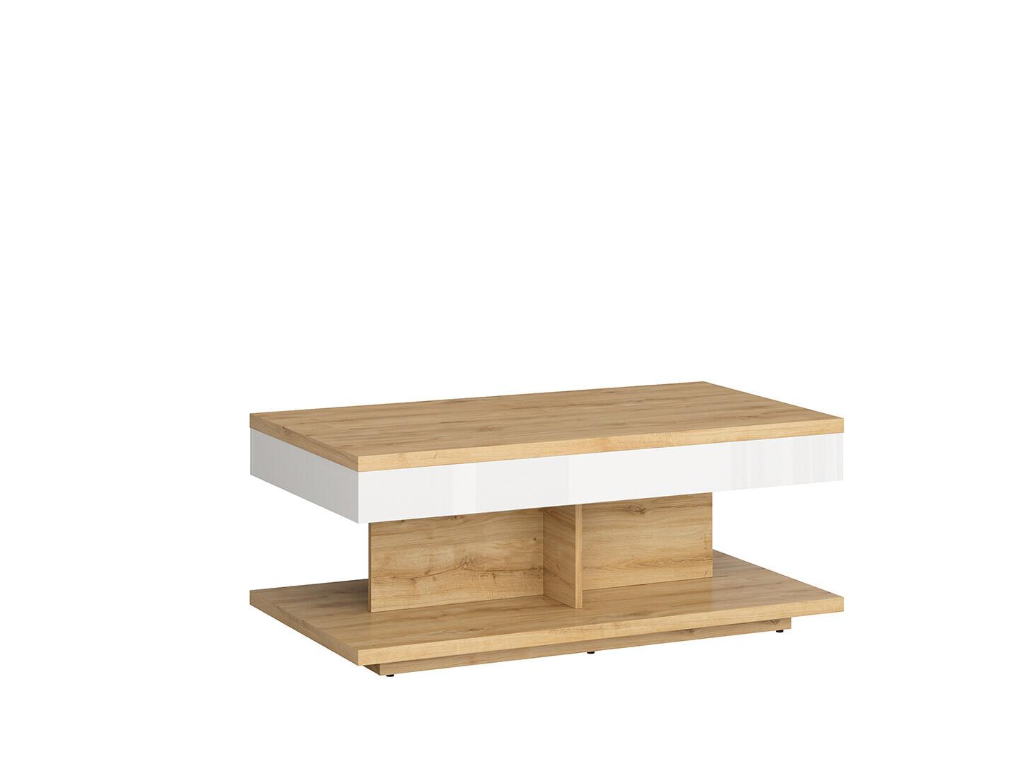 Konferenčný stolík ERLA LAW/110 biela/ dub Minerva