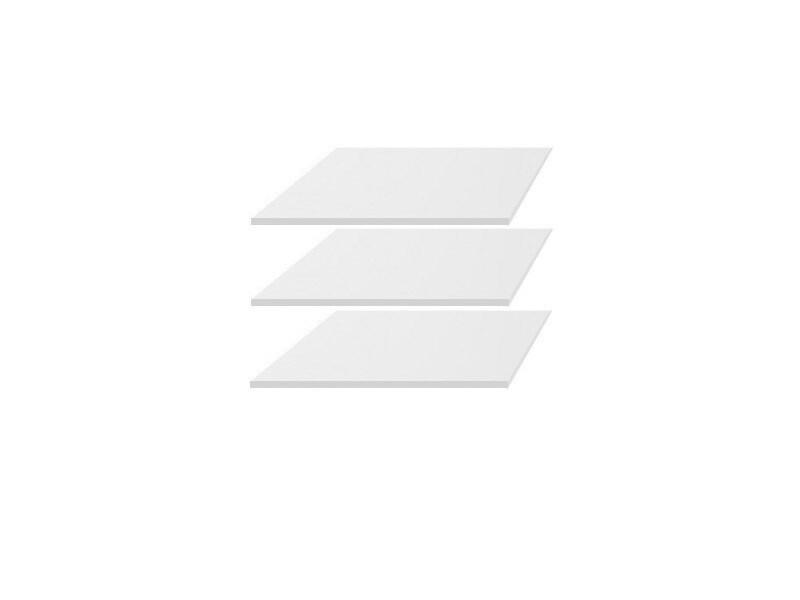 Doplnkové police k skrini ERLA SZF2D1S (3ks) biely