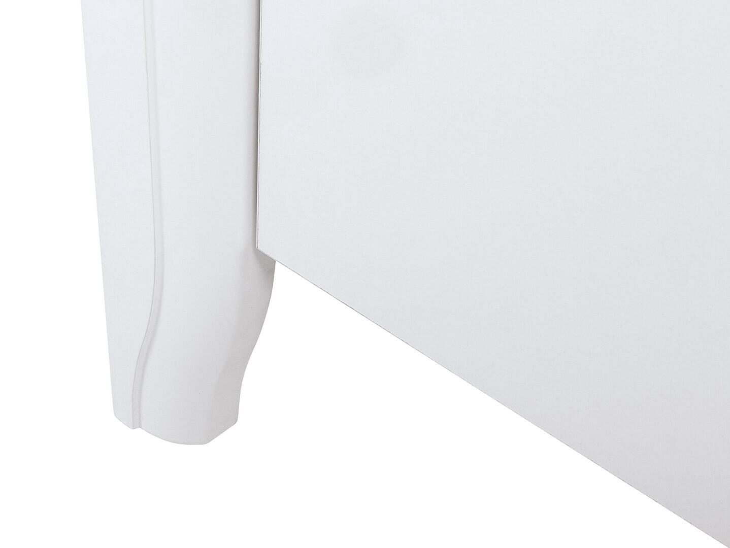 Nočný stolík KALIO KOM1S biely lesk/ akácia zlatá/ biely lesk