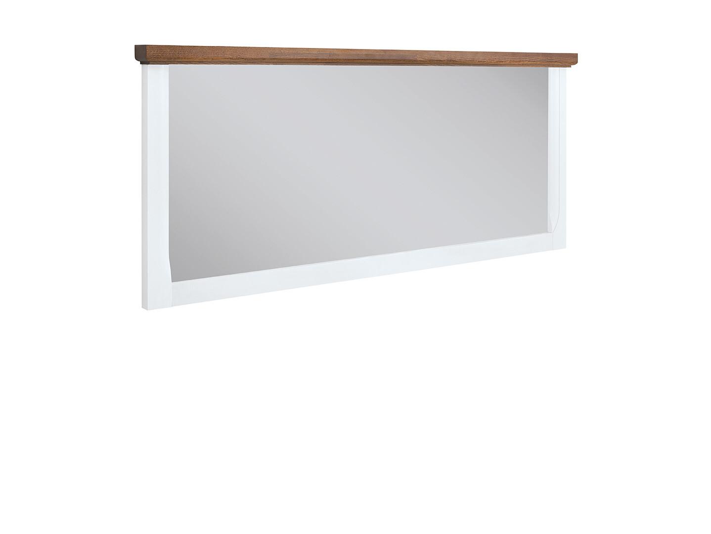 Zrkadlo KALIO LUS biely lesk/ akácia zlatá
