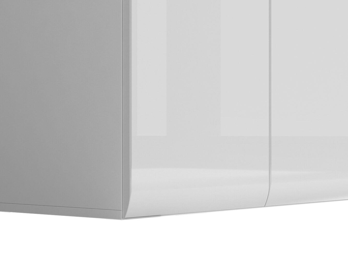 Vitrína AZTECA TRIO SFK1W1D/14/9 biela/biely lesk