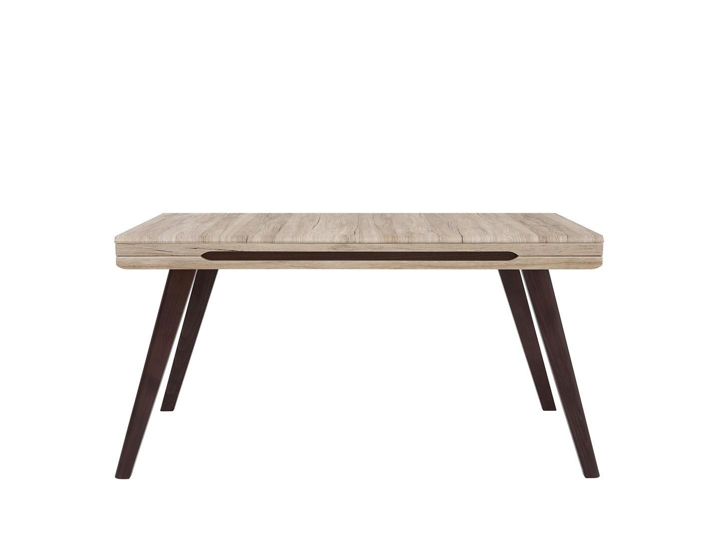 Jedálenský stôl AZTECA TRIO STO/185 dub san remo/dub wenge hnedý