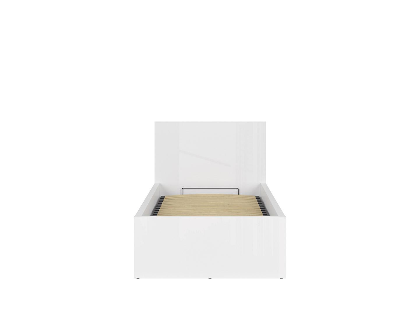 Posteľ TETRIX LOZ/90/B biely lesk